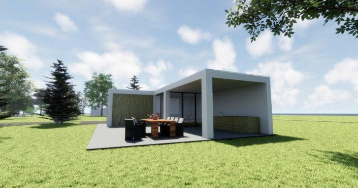Een modern buitenverblijf bouwen