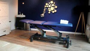 Een praktijkruimte voor een fysiotherapeut