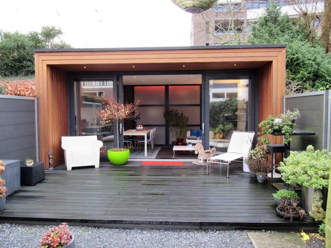 Tuinkantoor bouwen uw eigen tuinkantoor in de tuin solilux.nl