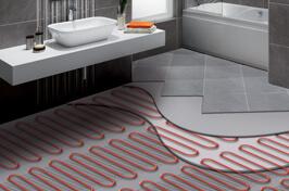 prefab praktijkruimte met vloerverwarming