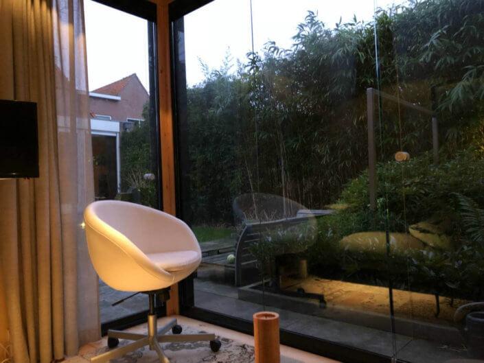 Tuinkamer met veel glas