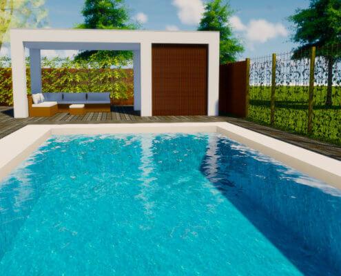poolhouse met lounge