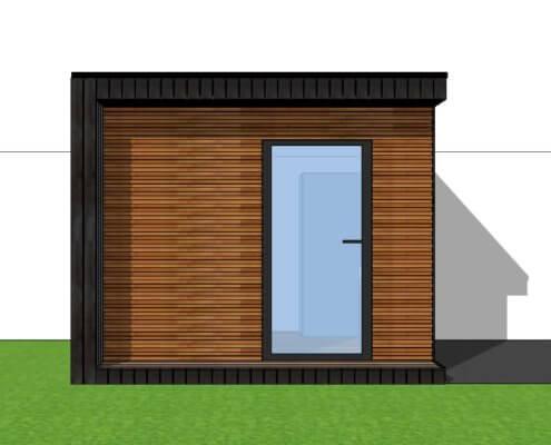 Modern tuinkantoor van hout