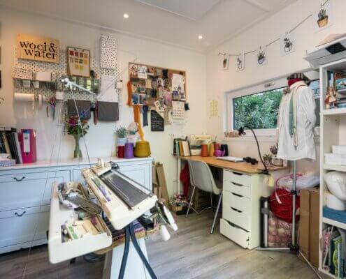 Tuinkantoor als atelier in Amsterdam